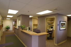 The front desk at OSMC in Manhattan, KS