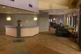 The reception area of OSMC in Manhattan, KS